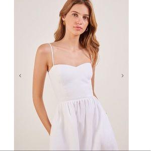 Reformation Olivia Dress White